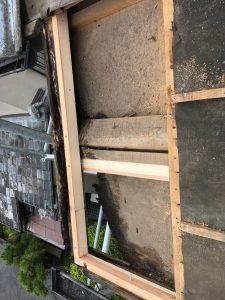 名張市 屋根瓦雨漏り工事 下地造作2
