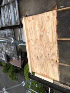 名張市 屋根瓦雨漏り工事 下地造作3