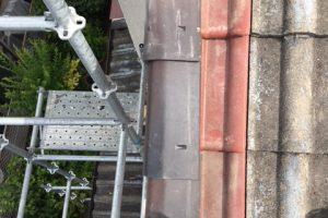 名張市 雨漏りしている屋根瓦と下地を交換する修理工事