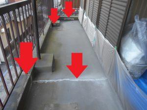 奈良県橿原市N様 ベランダからの雨漏り修理前