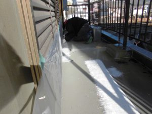 奈良県橿原市N様 ベランダからの雨漏り修理 ガラス基材2