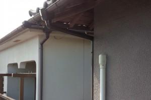 【雨樋修理・雨樋交換】三重県名張市A様邸 火災保険で雨樋の交換の工事をしました。