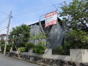 【屋根工事・屋根リフォーム】奈良県桜井市O様邸の屋根瓦交換工事が始まりました。