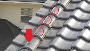橿原市 雨漏り修理で屋根瓦の漆喰や瓦のズレをリフォーム