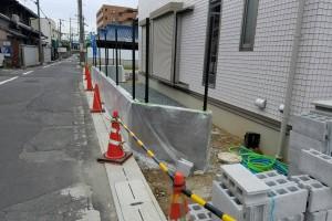 【デザイン塗装・塀塗装】奈良県橿原市W様邸 塀のデザイン塗装工事