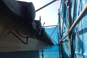 【雨樋修理・雨樋交換】奈良県橿原市Y様邸 火災保険で雨樋の交換の工事をしました。