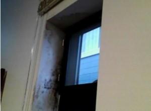 名張市 窓サッシから雨漏りのシミ跡が出たため雨漏り調査