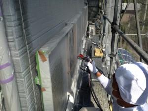 14外壁塗装2回目途中