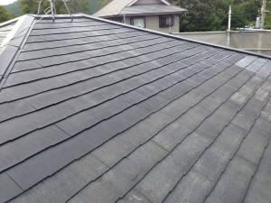 8屋根1回目塗装途中