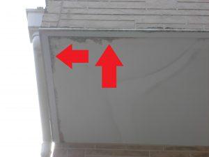 奈良県橿原市F様 ベランダ軒裏天井の傷み