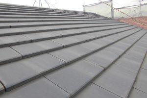 奈良県橿原市 断熱遮熱塗料ガイナをセメント瓦の屋根塗装