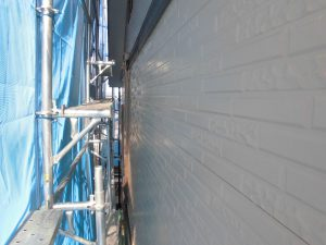奈良県橿原市H様 サイディング壁にクリーンマイルドシリコンを塗装1
