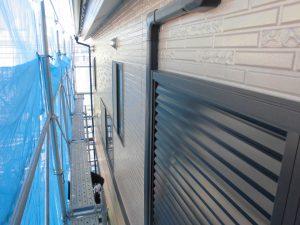 奈良県橿原市H様 サイディング壁にクリーンマイルドシリコンを塗装2