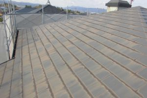 名張市 20年長持ちするガイナで屋根塗装リフォーム