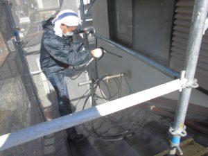 奈良県宇陀市I様 外壁塗装工事 高圧洗浄1