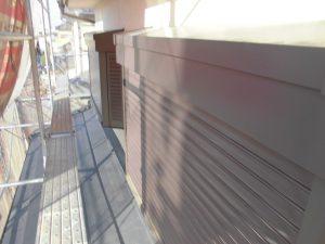 橿原市 雨戸塗装 さび止め塗装してから上塗り塗装