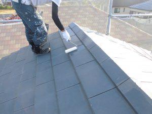 奈良県橿原市K様 屋根塗装 下塗り塗装1