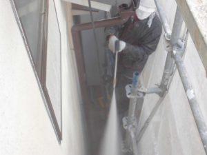 奈良県宇陀市U様 外壁塗装 高圧洗浄2