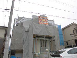 橿原市 サイディング壁の撤去と換気用の捨て張りと胴縁打ち