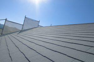 奈良県橿原市 断熱遮熱塗料ガイナをスレート屋根に塗装
