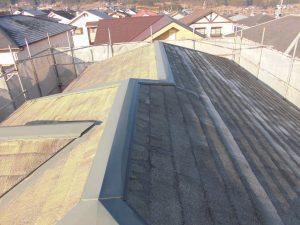 名張市 27年前の石綿入りスレート屋根を解体工事