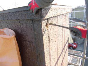 三重県名張市 雨漏りしている煙突を解体1