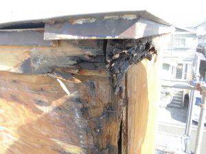 三重県名張市 雨漏りしている煙突を解体4