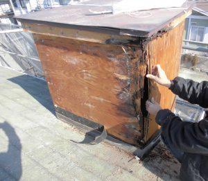 三重県名張市 雨漏りしている煙突を解体3