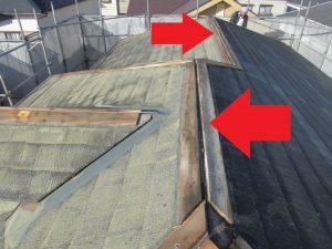 三重県名張市 スレート屋根の棟板金を撤去