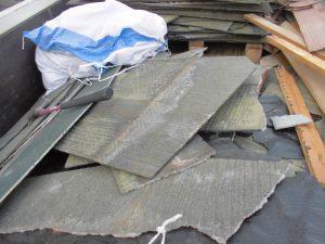 三重県名張市 スレート屋根の解体3