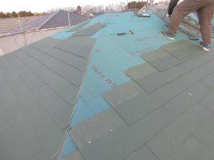 三重県名張市O様 スレート屋根を葺く5