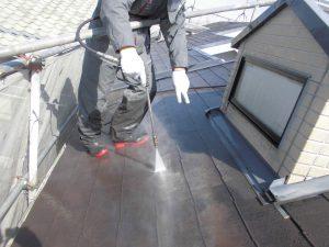 奈良県橿原市 屋根外壁塗装前の洗浄