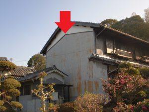 奈良県桜井市 築30年以上のトタン壁と壁の漆喰の調査