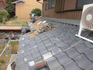 奈良県桜井市 屋根瓦めくり1