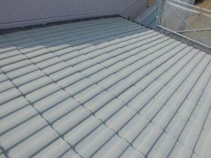 三重県名張市屋根にガイナ塗装4