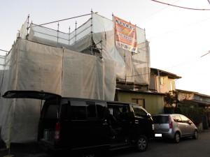 【外壁塗装・外壁修理】奈良県橿原市T様邸 足場の組み立て・養生・鉄部塗装の工程です。