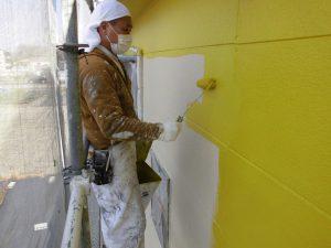 【外壁塗装,外壁塗り替え】奈良県北葛城郡広陵町U様邸 上塗り(3回目)塗装