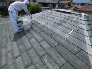 奈良県S様 屋根塗装ガイナ下塗り塗装