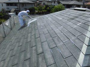 奈良県S様 屋根塗装ガイナ下塗り塗装2