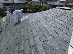 奈良県S様 屋根塗装ガイナ下塗り塗装3