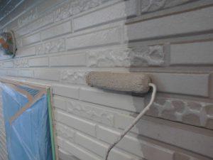 奈良県橿原市H様 外壁塗装 中塗り塗装1