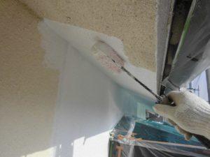 宇陀市 モルタル壁に水性ソフトサーフSGを塗装