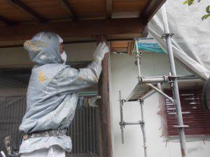 奈良県宇陀市U様 外壁塗装 玄関の木部塗装3