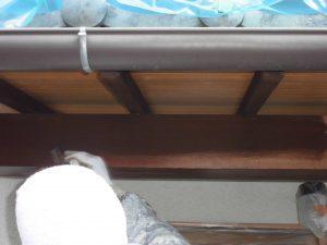 奈良県宇陀市U様 外壁塗装 玄関の木部塗装2