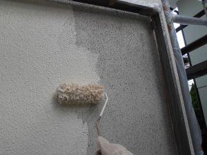 奈良県宇陀市 ガイナをモルタル壁に塗装2