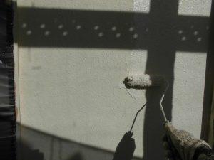 奈良県宇陀市 モルタル外壁に断熱セラミックガイナを上塗り3
