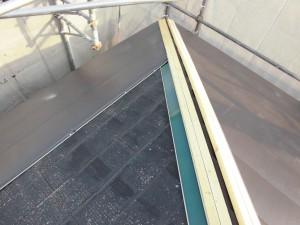名張市 スレート屋根にガルバリウム鋼板屋根を重ねる工事