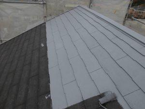 奈良県橿原市 スレート屋根にガイナ塗装3