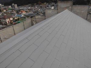 奈良県橿原市 スレート屋根にガイナ塗装4