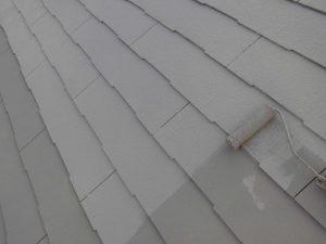 奈良県橿原市 断熱遮熱ガイナを上塗り2